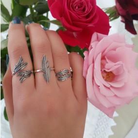 טבעת נוצה נמסיס- כסף