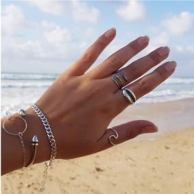 טבעת גל- כסף