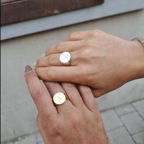 טבעת חותם עם חריטה-גולדפילד