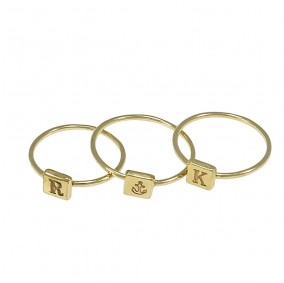 טבעת חריטה מרובעת -גולדפילד