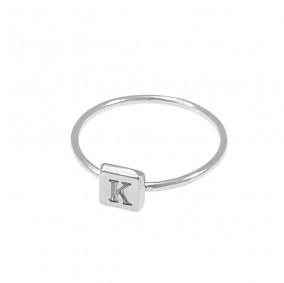 טבעת חריטה מרובעת-כסף