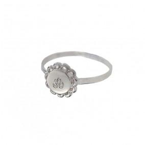 טבעת חריטה פלור- כסף