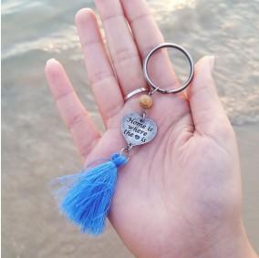 מחזיק מפתחות עם חריטה- פרנז צבעוני