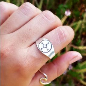 טבעת חריטה ריצ'ל