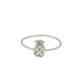 טבעת אננס קטן- כסף