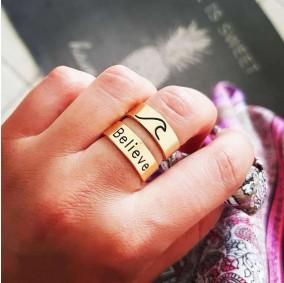 טבעת חריטה דין גולד'