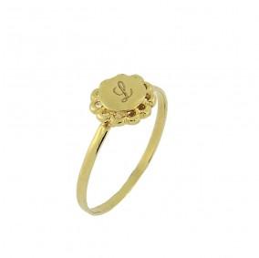 טבעת חריטה פלור-גולדפילד