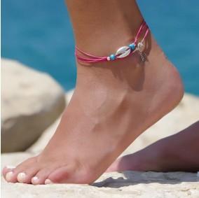 צמיד רגל הוואי ורוד