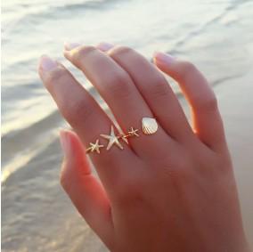 טבעת צדף וכוכב ים